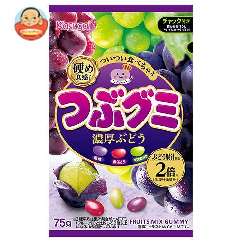 春日井製菓 つぶグミ濃厚ぶどう 75g×6袋入