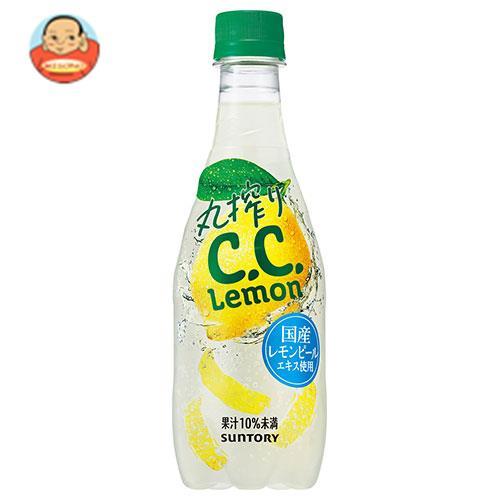 サントリー 丸絞り C.C.レモン 420mlペットボトル×24本入