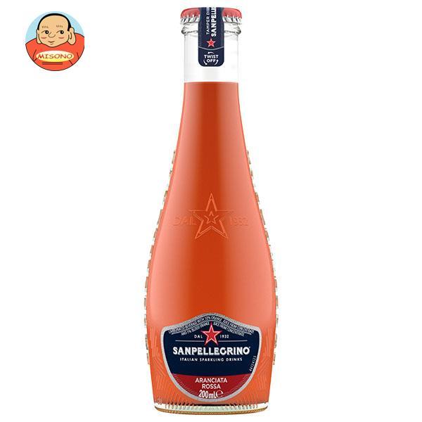 サンペレグリノ イタリアンスパークリングドリンク アランチャータ・ロッサ(ブラッドオレンジ) 200ml瓶×24本入