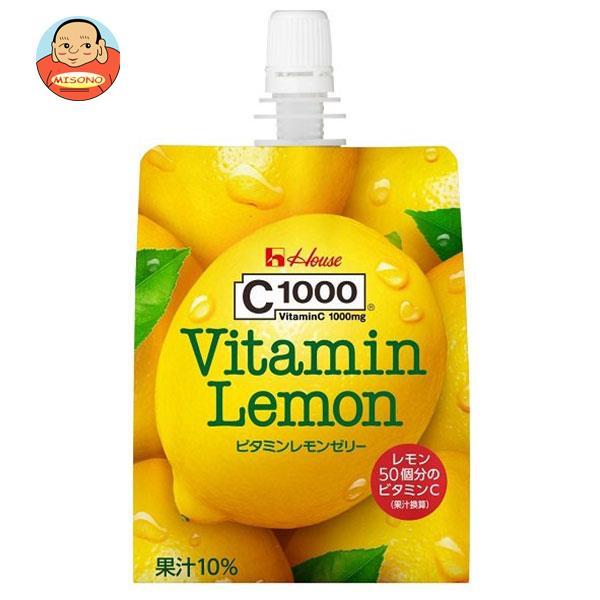 ハウスウェルネスフーズ C1000 ビタミンレモンゼリー 180gパウチ×24本入