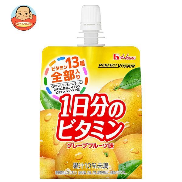 ハウスウェルネス PERFECT VITAMIN(パーフェクトビタミン) 1日分のビタミンゼリー グレープフルーツ味 180gパウチ×24本入