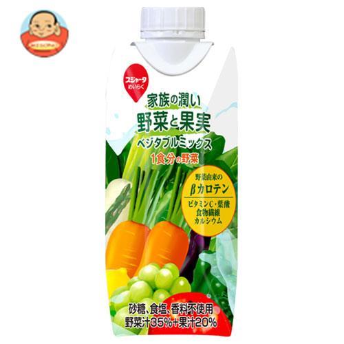 スジャータ 家族の潤い野菜と果実 ベジタブルミックス 330ml紙パック×12本入