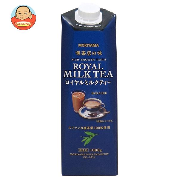 守山乳業 MORIYAMA 喫茶店の味 ロイヤルミルクティー 1000g紙パック×6本入