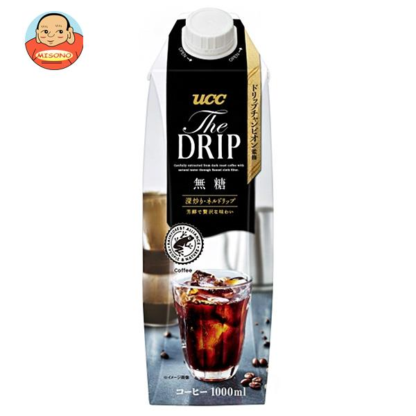 UCC THE DRIP(ザ ドリップ) 無糖 1000ml紙パック×12本入