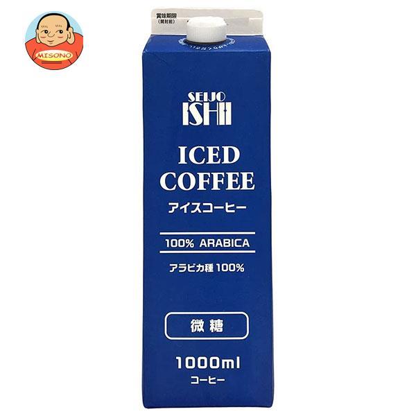 成城石井 アイスコーヒー 微糖 1000ml紙パック×12本入