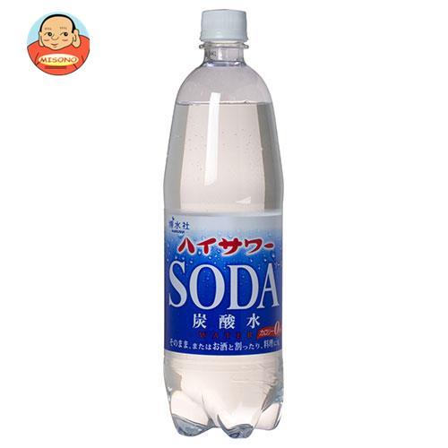 博水社 ハイサワー 炭酸水 1000mlペットボトル×15本入