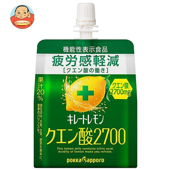 ポッカサッポロ キレートレモン クエン酸チャージゼリー 180gパウチ×30本入