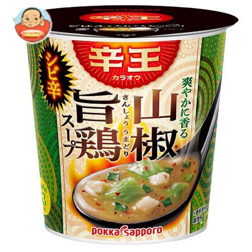 ポッカサッポロ 辛王 旨シビ辛麻辣スープ カップ入り 19.8g×24(6×4)個入