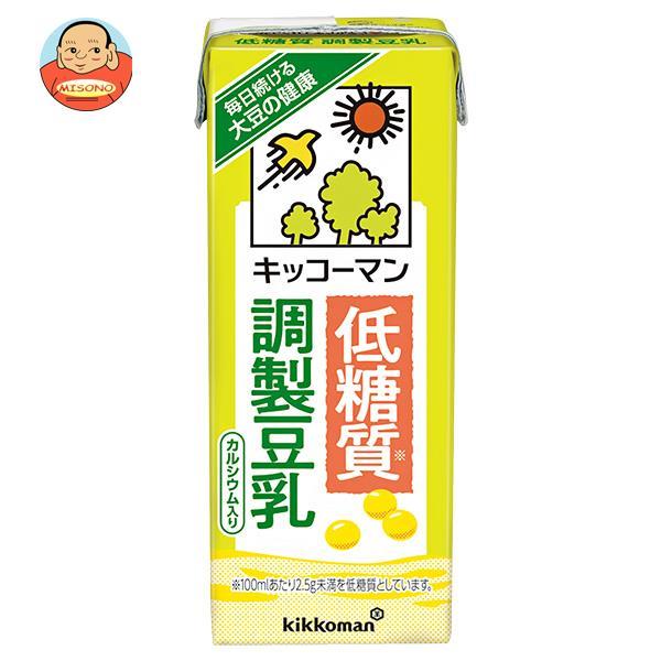 キッコーマン 低糖質 調製豆乳 200ml紙パック×18本入