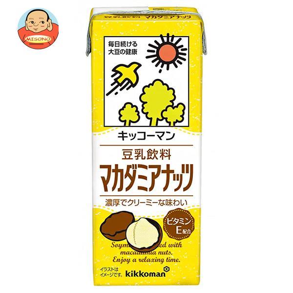キッコーマン 豆乳飲料 マカダミアナッツ 200ml紙パック×18本入