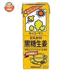 キッコーマン 豆乳飲料 黒糖生姜 200ml紙パック×18本入