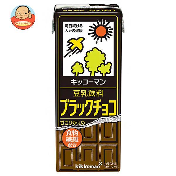 キッコーマン 豆乳飲料 ブラックチョコ 200ml紙パック×18本入