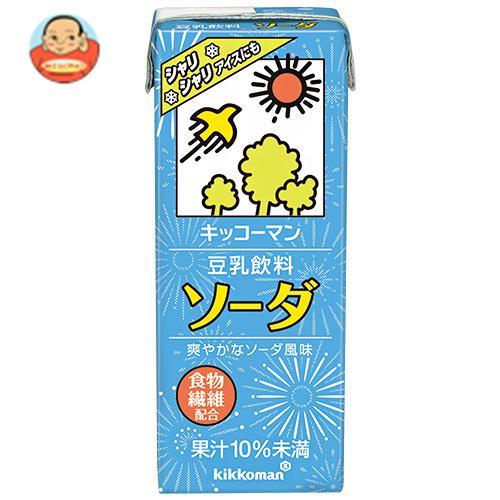 キッコーマン 豆乳飲料 ソーダ 200ml紙パック×18本入