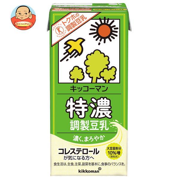 キッコーマン 特濃調製豆乳【特定保健用食品 特保】 1000ml紙パック×12(6×2)本入