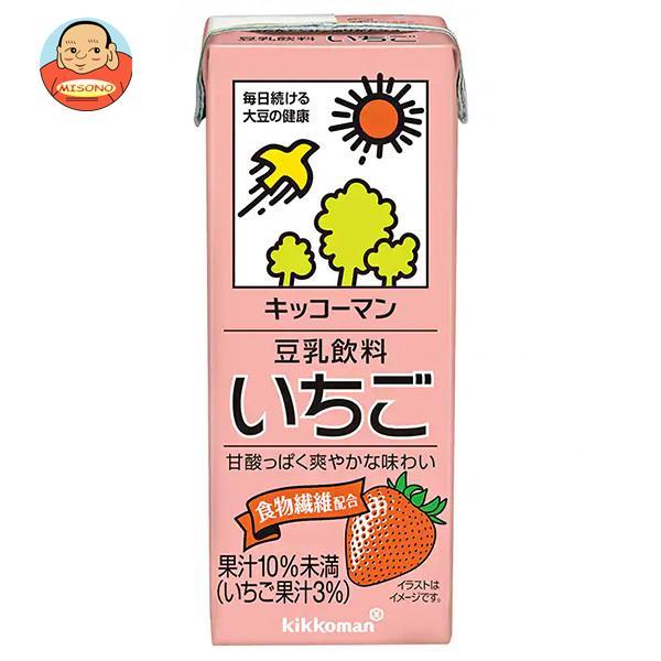 キッコーマン 豆乳飲料 いちご 200ml紙パック×18本入