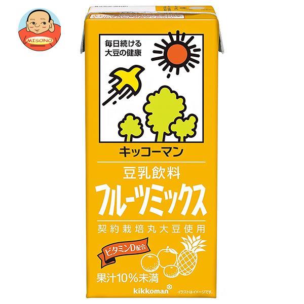 キッコーマン 豆乳飲料 フルーツミックス 1000ml紙パック×12(6×2)本入
