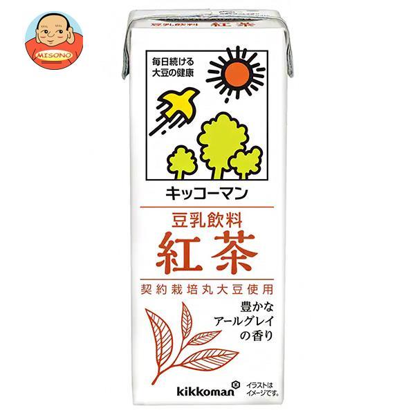 キッコーマン 豆乳飲料 紅茶 200ml紙パック×18本入