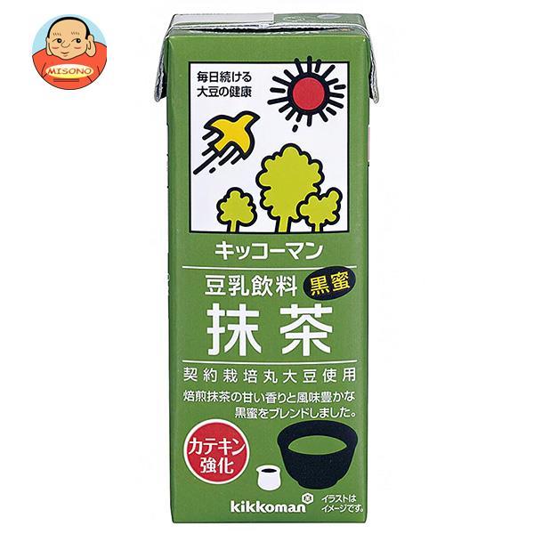 キッコーマン 豆乳飲料 抹茶 200ml紙パック×18本入