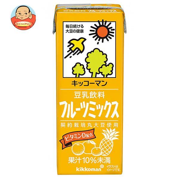 キッコーマン 豆乳飲料 フルーツミックス 200ml紙パック×18本入