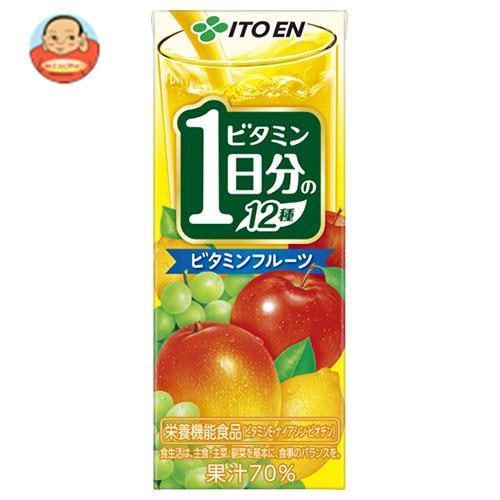 伊藤園 ビタミンフルーツ 1日分のビタミン12種 200ml紙パック×24本入
