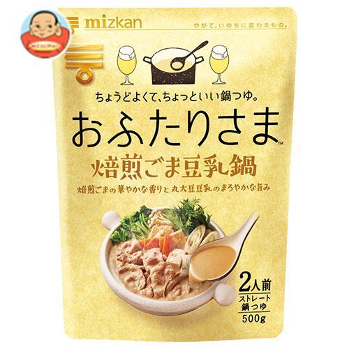 ミツカン ふたりPREMIUM 焙煎ごま豆乳鍋つゆ 500g×12袋入