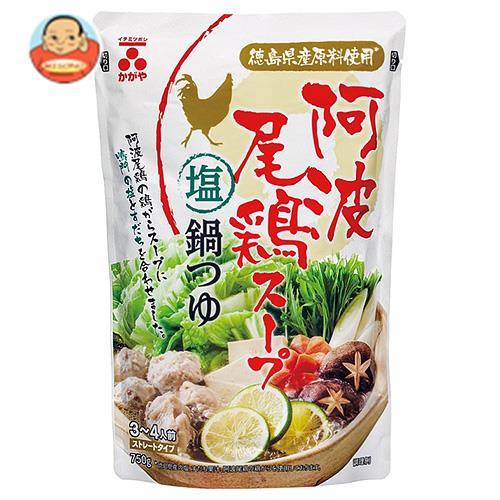 イチミツボシ 阿波尾鶏スープ塩鍋つゆ 750gパウチ×12袋入