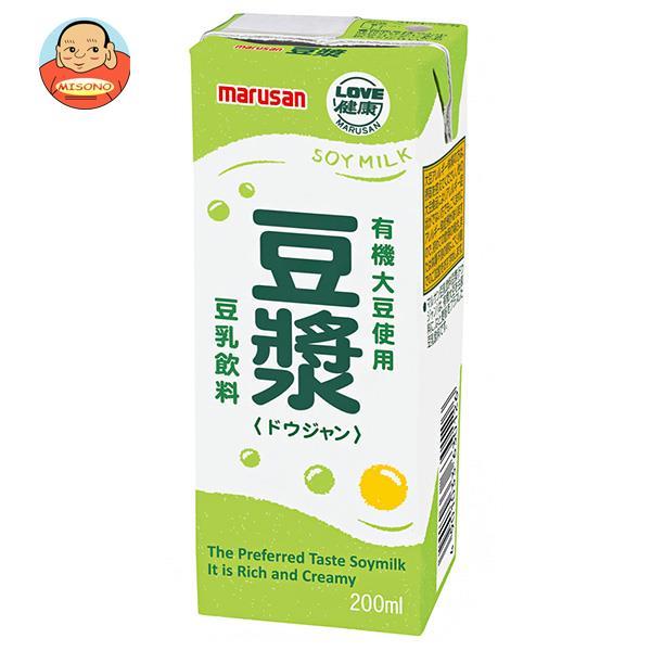 マルサンアイ 豆乳飲料 豆ジャン 200ml紙パック×24本入