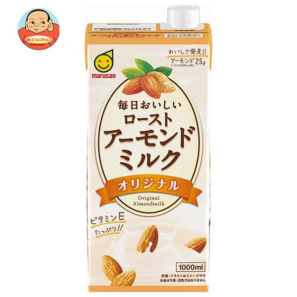 マルサンアイ 毎日おいしい ローストアーモンドミルク オリジナル 1000ml紙パック×12(6×2)本入
