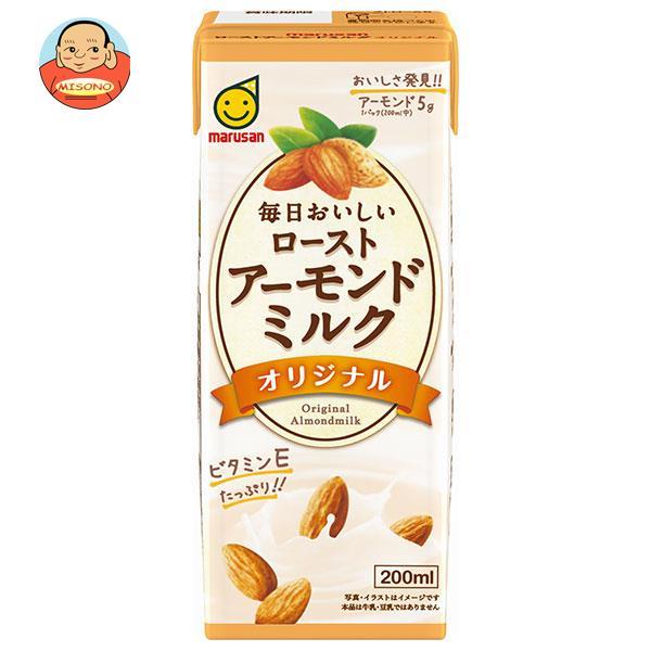 マルサンアイ 毎日おいしい ローストアーモンドミルク オリジナル 200ml紙パック×24本入