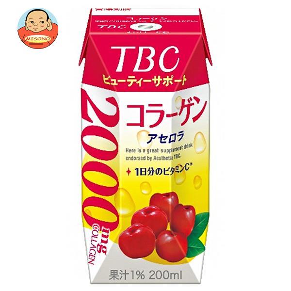 森永乳業 TBC ビューティーサポート アセロラ(プリズマ容器) 200ml紙パック×24本入