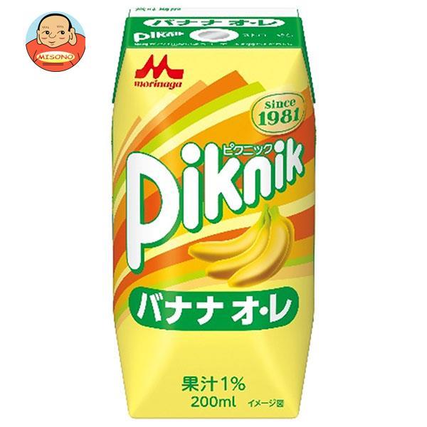 森永乳業 ピクニック バナナオレ(プリズマ容器) 200ml紙パック×24本入