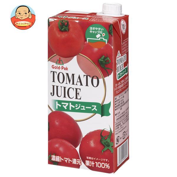ゴールドパック トマトジュース 1L紙パック×6本入