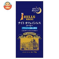 日本ヒルスコーヒー ヒルス ナイトカフェインレス・ブラジル100%(粉) 170g袋×12(6×2)袋入