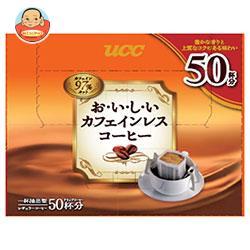 UCC おいしいカフェインレスコーヒー ドリップコーヒー 50P×6箱入
