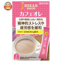 日本ヒルスコーヒー ヒルス カフェオレ GABA配合【機能性表示食品】 12g×7P×24(6×4)箱入