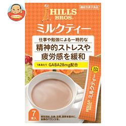 日本ヒルスコーヒー ヒルス ミルクティー GABA配合【機能性表示食品】 12g×7P×24(6×4)箱入