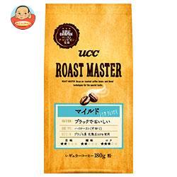 UCC ROAST MASTER (ローストマスター) 豆 マイルド for BLACK 180g袋×12(6×2)袋入