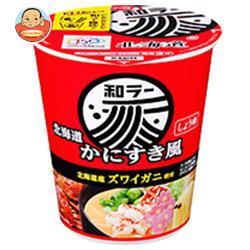 サンヨー食品 サッポロ一番 和ラー 北海道 かにすき風 72g×12個入