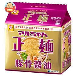 東洋水産 マルちゃん正麺 豚骨醤油 5食パック×6個入