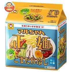 東洋水産 マルちゃん正麺 ごまだれ冷し 5食パック×6個入