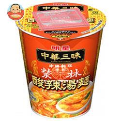 明星食品 中華三昧タテ型 赤坂榮林 酸辣湯麺(スーラータンメン) 66g×12個入