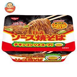 日清食品 日清ソース焼そば カップ チキンスープ付き 104g×12個入