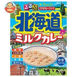ハチ食品 るるぶ×Hachiコラボシリーズ 北海道ミルクカレー中辛 200g×20(5×4)個入