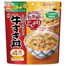 アマノフーズ フリーズドライ お茶碗どんぶり 牛すき丼 4食×20(5×4)袋入
