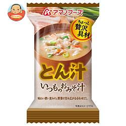 アマノフーズ フリーズドライ いつものおみそ汁 とん汁 10食×6箱入