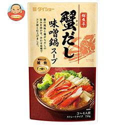 ダイショー 鮮魚亭 蟹だし味噌鍋スープ 750g×10袋入