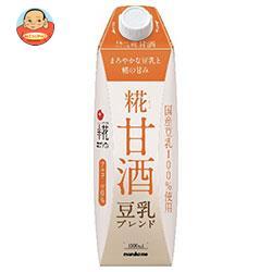 マルコメ プラス糀 米糀からつくった糀甘酒LL 豆乳ブレンド 1000ml紙パック×6本入