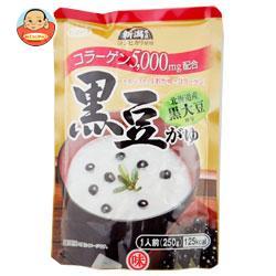 ヒカリ食品 黒豆がゆ コラーゲン入り 250gパウチ×24個入