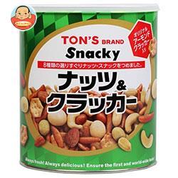 東洋ナッツ食品 トン スナッキー ナッツ&クラッカー 535g缶×6個入