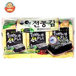 白子のり オリーブオイル韓国伝統のり 3袋詰(8切8枚)板のり3枚×12個入